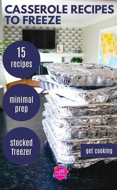 These easy make ahead freezer casserole meals are perfect for busy families, to gift to new moms or even to feed a crowd at a party or a funeral. Plan Ahead Meals, Freezable Meals, Make Ahead Freezer Meals, Freezer Cooking, Make Ahead Casseroles, Freezer Recipes, Crockpot Frozen Meals, Freezer Meal Party, Freezer Dinner