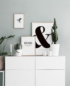 Typografie-Poster zu einem skandinavischem Einrichtungsstil