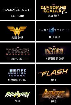 Upcoming Marvel and DC Movies Part 2
