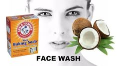 Baking soda is often used in grandma's recipes for cleaning the house or in teeth whitening recipes, but it turns out that this ingredient . Coconut Oil For Skin, Organic Coconut Oil, Baking Soda Face Wash, Baking Soda Coconut Oil, Coconut Benefits, Homemade Skin Care, Facial Care, Oils For Skin, Skin So Soft