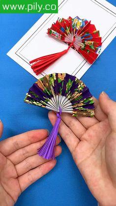 Cool Paper Crafts, Paper Crafts Origami, Creative Crafts, Diy Crafts Hacks, Diy Crafts For Kids, Fun Crafts, Chinese New Year Crafts For Kids, Chinese Crafts, Instruções Origami