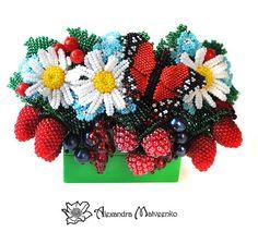 Berry jewelry by Alexandra Matveenko.  See more on beadsmagic.com
