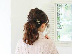 ◆新年会で目を引くかわいく上品なヘアアレンジ☆