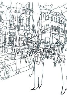Maija Louekari - inspiration for blind contour drawing lesson