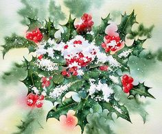 Holly and Snow ~ Ann Mortimer
