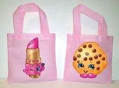 10 Shopkins Party Favor Bags Shopkins Party Favors by picturesweet Shopkins Candy Bags, Shopkins Ideas, Shopkins Characters, Birthday Ideas, Birthday Parties, Pink Tote Bags, Party Favor Bags, Bridal Gifts, Transfer Paper