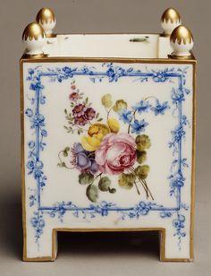 Sèvres Manufactory | Pair of flower pots (caisses carrés) | French, Sèvres | The Met