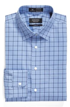 Main Image - Nordstrom Men's Shop Smartcare™ Classic Fit Plaid Dress Shirt