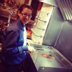Morcilla, Pimiento de Torquemada, Cebolla caramelizada y la sonrisa de Isabel #plancha #gastrotapas  www.restaurantecasalucio.com Caramelized Onions, Planks, Smile