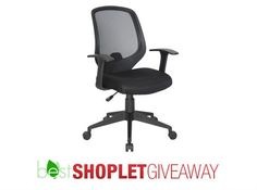 Shoplet.com is giving away TWO Best Black Fabric Task Chairs! Here's how to win: Follow Shoplet on Pinterest, repin this post, go to the Shoplet Blog before July 1st and tell us why you want this new amazing chair! #giveaways
