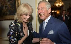 The Prince of Wales and Joanna Lumley during the reception for the 'Samaritans' (Arthur Edwards)