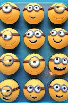 Despicable me cupcakes I want to make these for my bestfriend's bday.