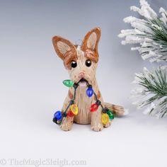 Australian Cattle Dog Christmas Ornament Red Heeler Porcelain