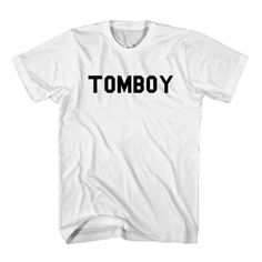 T-Shirt Tomboy unisex mens womens S, M, L, XL, 2XL color grey and white. Tumblr t-shirt free shipping USA and worldwide.
