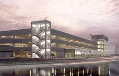 """The Winnipeg Airports Authority challenged the design team to achieve a state-of-the-art parking facility to reflect it's mandate of customer service and to serve as the """"Gateway to Winnipeg""""."""
