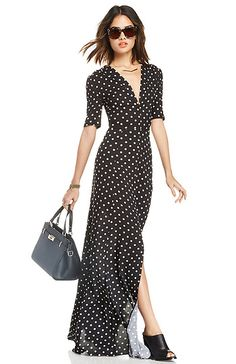 Coveted Contemporary outfit, polka dot maxi//