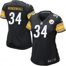 12fb757a3e2 NFL Womens Elite Nike Nike Pittsburgh Steelers #34 Rashard Mendenhall Team  Color Black Jersey Go