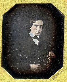 Portrait of an unknown man, date unknown, Daguerreotype.