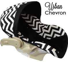 Urban Black Chevron Baby Car Seat  this will be my childs car seat