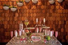 URBAN & EDGY: dessert table signage (@At Your Side Planning San Diego Wedding + Event Planner)