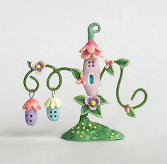 OOAK Miniature Fairy Whimsy Vine and Bobble Houses