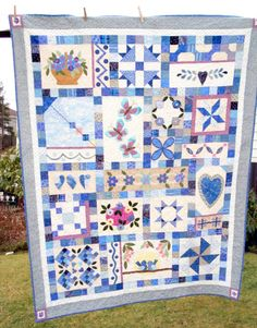 My Blue Heaven Sampler Quilt