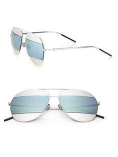 9dd9d9b634af Dior Split1 59MM Metal Aviator Sunglasses  555