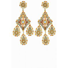 Colored chandelier earrings