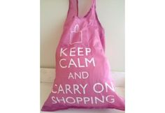 Keep Calm and Carry On Shopping tas