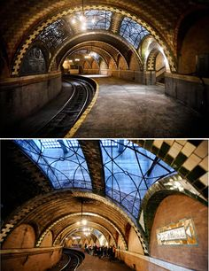Chicago subway station - love this look