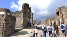 Pompeii, Italy - tour of the town destroyed by Mount Vesuvius