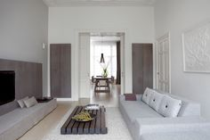 A white home in the Haque with a French touch