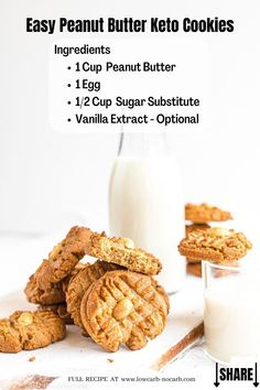 The easiest ever Peanut Butter Keto Cookies Recipe with only a few ingredients and done in less than 20 minutes are a perfect staple for a quick Keto Dessert Idea. Fully Gluten-Free, Grain-Free and Sugar-Free, those simple Keto Cookies are filled with all of the protein you have been looking for. Keto Peanut Butter Cookies, Peanut Butter Cheesecake, Keto Cookies, Sugar Free Recipes, Cookie Recipes, Snack Recipes, Atkins Recipes, Low Carb Recipes, Ketogenic Recipes