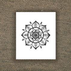 Mandala temporary tattoo by Tattoorary on Etsy