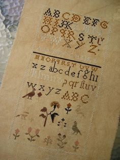 Threadwork Primitives ~ Ohio Treasure Sampler.  Love this version by Sharon of moosecraftusa.blogspot.com
