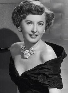 Barbara Stanwyck in William Ruser Jewelry, 1948.