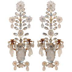 Pair of Rock Crystal & Gilt 2 Arm Sconces Gilt, Elegant Decor, Vintage Elegant, Elegant, Interior Lighting, Elle Decor, Modern Wall Lights, Sconces, Lights