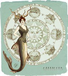 My Vintage Horoscope–Capricorn (momothecat.deviantart.com)