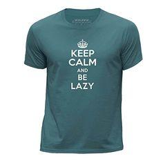 STUFF4 Chicos/Edad de 5-6 (110-116cm)/Oceano Verde/Cuello redondo de la camiseta/Keep Calm Be Lazy #regalo #arte #geek #camiseta