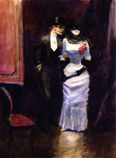 At the Masked Ball, c.1885 by Jean-Louis Forain (French 1852 –1931)