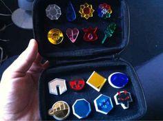 8 badges from the Kanto region, 8 badges from the Johto region