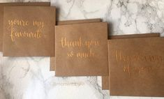 Pack Of Mini Greeting Cards  Thank You Cards  Thinking Of