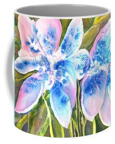 Magic Abstract Daylily Coffee Mug featuring the painting Magic Abstract Daylily by Sabina Von Arx Mugs For Sale, Creative Colour, Unique Coffee Mugs, Day Lilies, Basic Colors, Painting Techniques, Cool Artwork, Color Show, Colorful Backgrounds