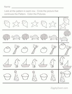 Printables Preschool Pattern Worksheets pattern trace the shape that comes next 2 worksheets free fun sequence pre k worksheet 1 ziggity zoom