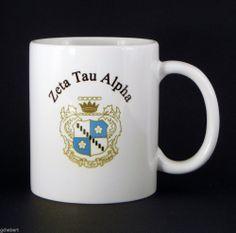 Zeta Tau Alpha, ZTA, Crest Coffee Cup New