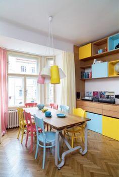Original colorful dining room