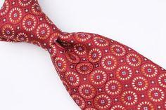 $175+ ERMENEGILDO ZEGNA Recent Dark Red Gold mens Silk Tie #ErmenegildoZegna #Tie