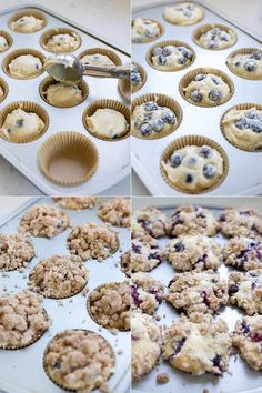 These are a family favorite! Fluffy blueberry muffins topped with a buttery cinnamon crumble topping just like the bakery makes. Blueberry Crumb Muffins, Homemade Blueberry Muffins, Blue Berry Muffins, Blueberry Recipes, Baking Recipes, Cookie Recipes, Dessert Recipes, Bread Recipes, Ham Recipes