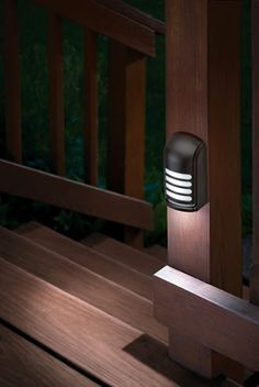 LED Motion Sensing Deck Lights. Handy when guests come over!