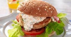 Fish Burger, Salmon Burgers, Swedish Recipes, Fish And Seafood, Fish Recipes, Recipies, Food And Drink, Cooking Recipes, Tasty